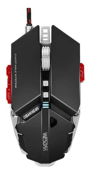 Mouse Gamer Rgb Ajustavel /wesdar- 4000dpi 10 Botões