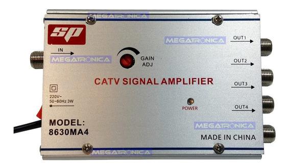 Amplificador Repartidor Tv Cable 4 Salidas Sp 8630 C/regulac