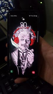 Samsung Galaxy S8 Tela Trincada E Efeito Burn-in Com Capinha Original Samsung