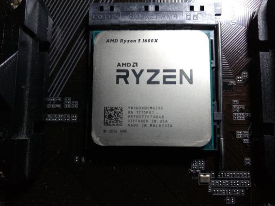 Processador Ryzen 1600x + Placa Mãe Gigabyte Ab350m-d3h