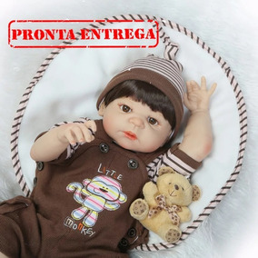 Bebê Reborn Pronta Entrega Menino Moreno Corpo De Silicone