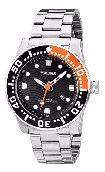 Relógio Magnum Masculino Original Aço Inoxidável Ma31391j