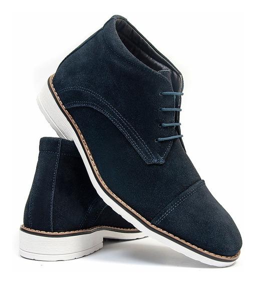 Sapato Oxford Cano Médio Salazari Em Couro Camurça