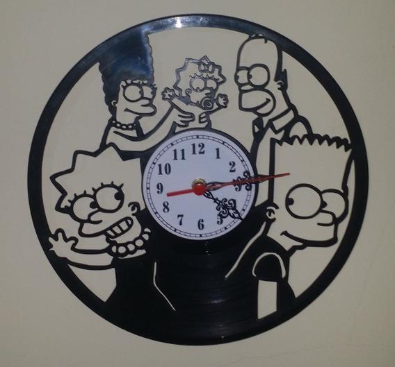 Relógio De Parede Em Disco Vinil - Os Simpsons
