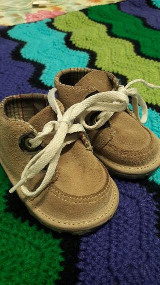 Zapato Bebe Cheeky Gamuza Marron 17 Tipo Botita