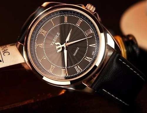 Relógio Masculino Barato Dourado Resistência A Água: