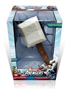Martillo Thor Lampara 3d Deco Light Avengers Marvel