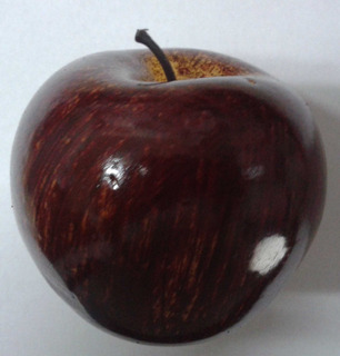 Fruta Decorativa Manzana Roja En Tamaño Real X Unidad $um