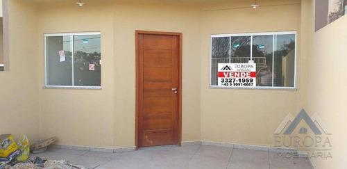 Imagem 1 de 5 de Casa Com 3 Dormitórios À Venda, 70 M² Por R$ 254.000 - Jardim Colúmbia D - Londrina/pr - Ca0719