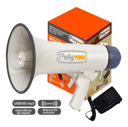 Megáfono 20w Usb Recargable Polybox - Envío Gratis