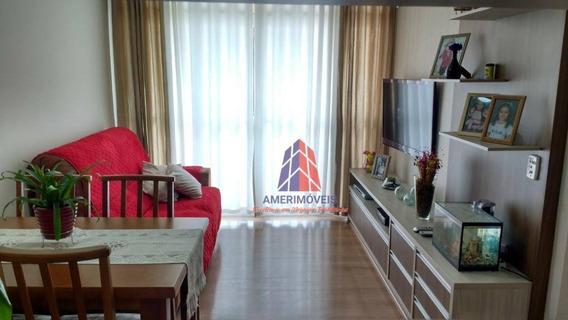 Apartamento Com 3 Dormitórios À Venda, 69 M² Por R$ 330.000 - Condomínio Terra Nova - Vila Omar - Americana/sp - Ap0575