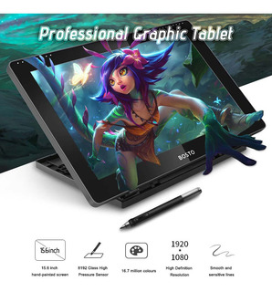 Bosto 16hd 15.6 Pulgadas Ips Gráficos Dibujo Tablet Display
