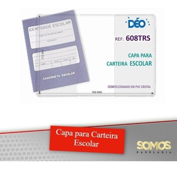Capa Para Caderneta Escolar Kit Com 100 Peças