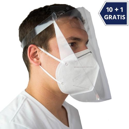Careta Facial Protector Facial Cubrebocas 10+1 Piezas