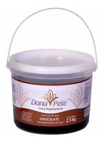 Cera Depilatória Dona Pele Chocolate Hidrossolúvel 2,3kg