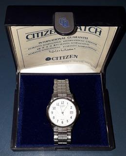 Reloj Hombre Citizen Quartz Combinado Funcionando 35 Mm 50m