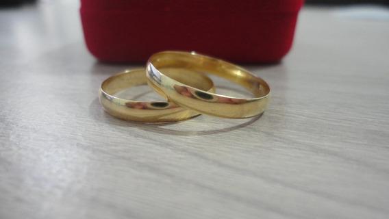 Aliança De Ouro 3,5 Mm 4 Gramas