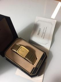 Relógio Seiko Antigo Dourado Feminino - Na Caixa -raridade