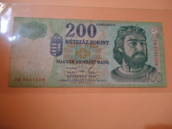 Billete Hungria 200 Forint 1998