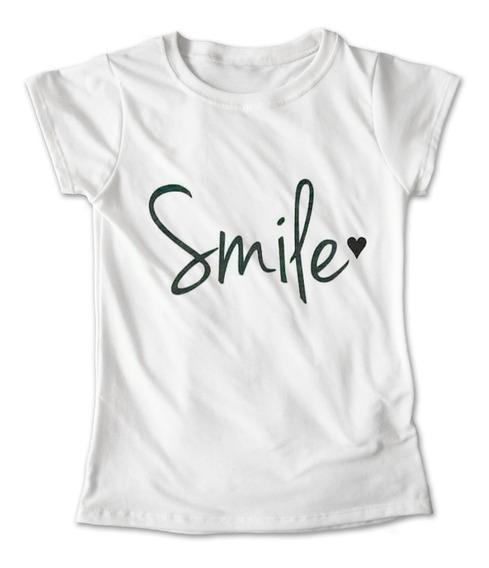 Blusa Smile Colores Playera Estampado Letreros 069