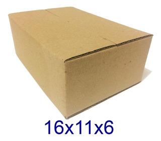 400 Caixas De Papelão Mercado Envios - Correios 16x11x6cm
