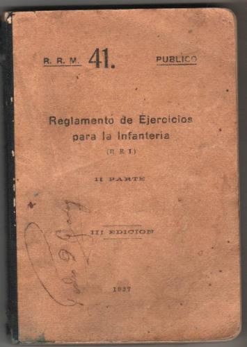1937 - Reglamento Infanteria
