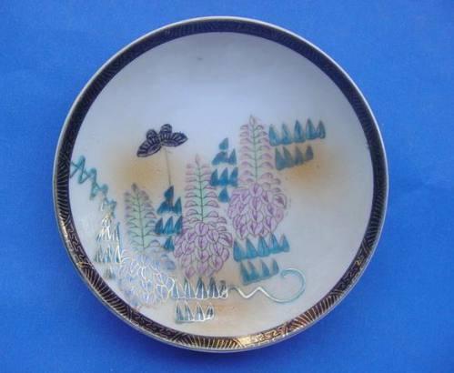 Antiguo Plato De Porcelana Japonesa Con Motivos Orientales