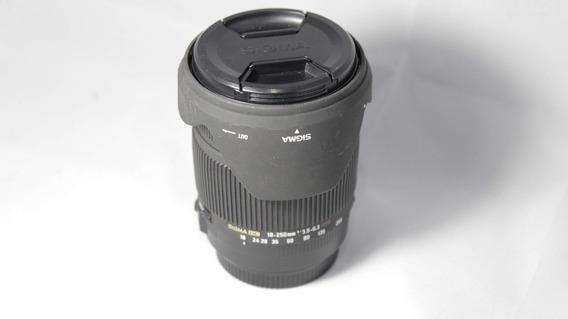 Lente Sigma 18-250 F3.5-5.6 Os Hsm (p/ Canon)