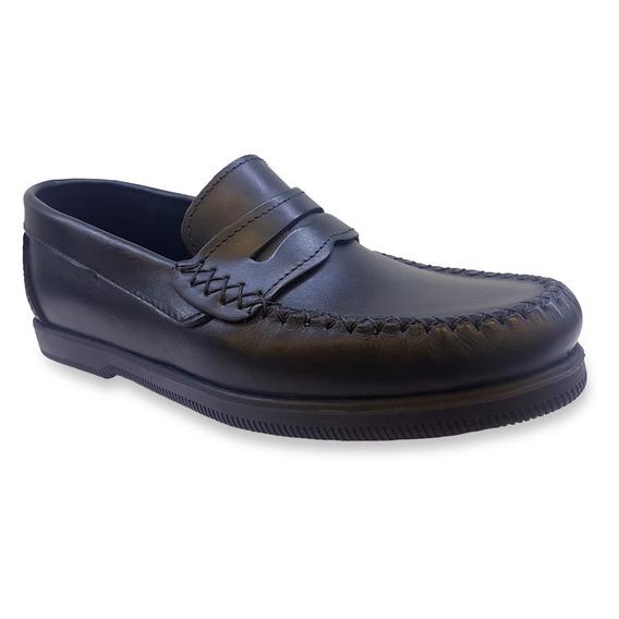 Zapato Negro Perona Colegial Nene