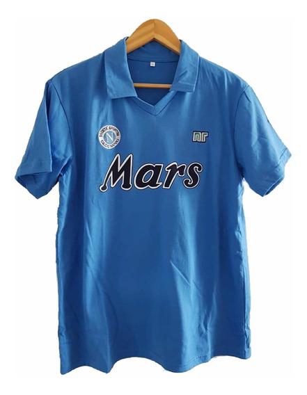 Camiseta Napoli Maradona 88/89. Mars. Toda Cosida A Mano!!