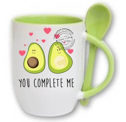 Imagen 1 de 10 de Taza Con Cuchara Personalizada Regalo San Valentin Enamorado
