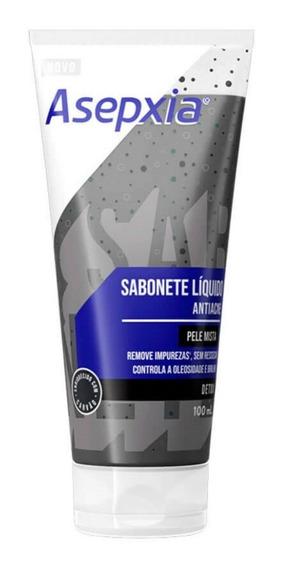Asepxia Sabonete Líquido Antiacne Detox Pele Mista 100ml