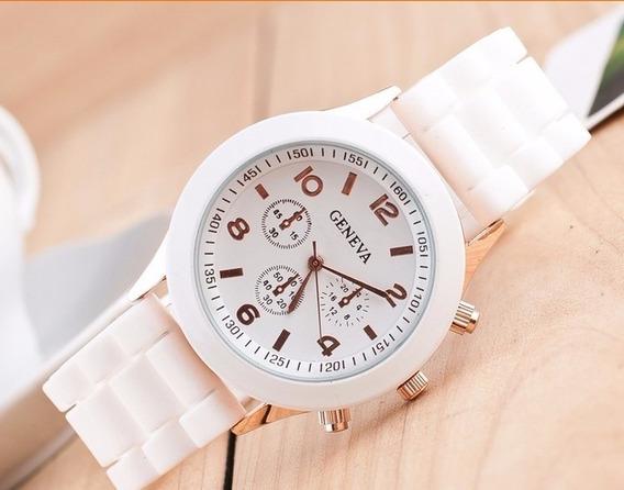 Relógio Feminino Geneva Pulseira Silicone Promoção