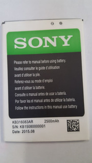 Bateria Original De Equipo Sony Chino