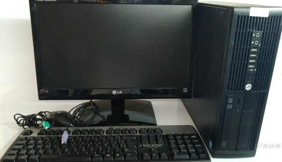 Combo Monitor 19 Desktop Cpu Hp Compac 4300 I3 Ram 4gb Hd500