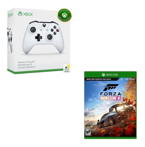 Kit Controle S/ Fio Xbox One S + Forza Horizon 4