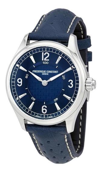 Relógio Frederique Constant Fc-282an5b6 Pulseira Couro