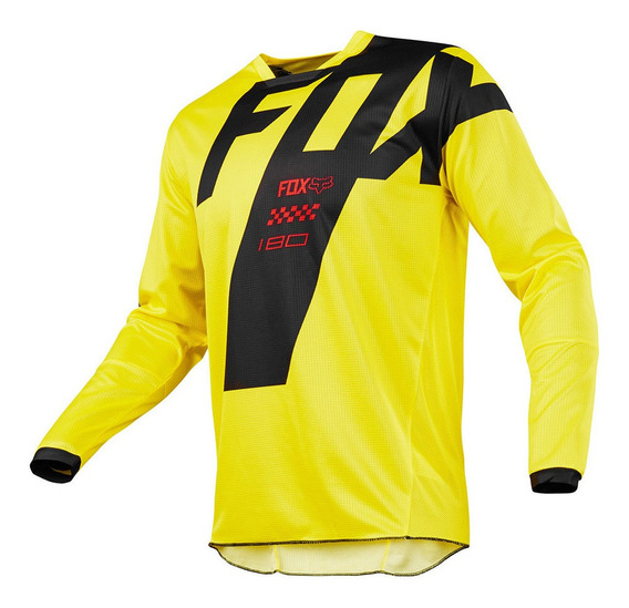 Camisa Fox 180 Mastar Infantil Amarelo L
