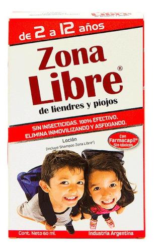 Kit Zona Libre Locion + Shampoo Para Liendres Y Piojos