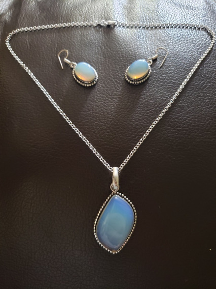Collar, Plata 925, Ópalo, Piedra, Colgante, Natural, Único