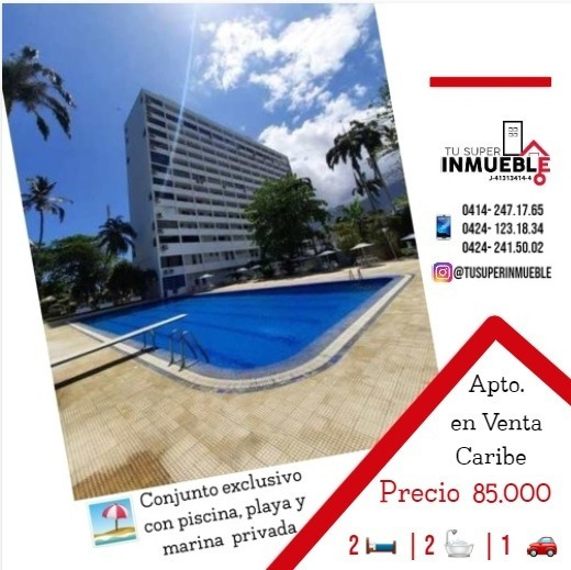 Apartamento En Venta Caraballeda (caribe) 2h-2b-1p