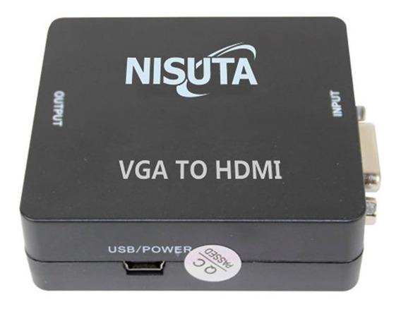 Nisuta Conversor De Vga A Hdmi Ns-covghd3 Con Audio