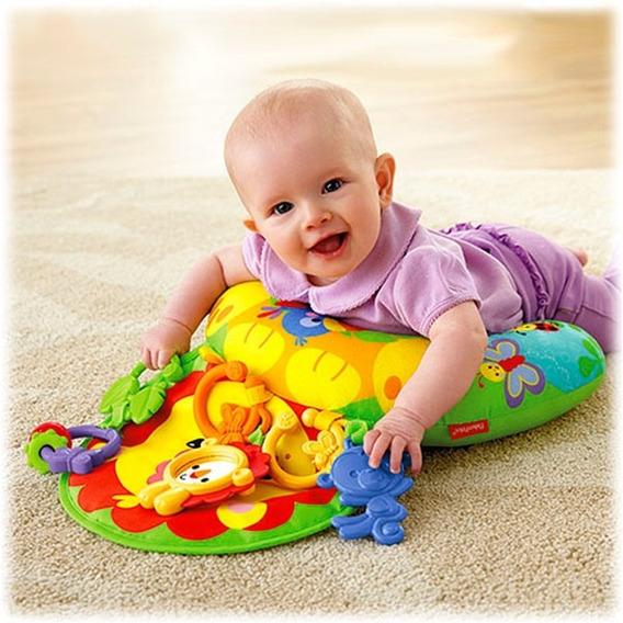 Almofada De Atividades 2 Em 1 Leaozinho Divertido Para Bebe