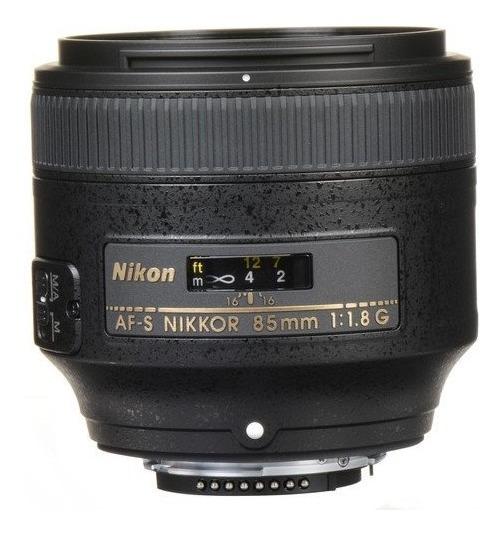 Lente Nikon Af-s 85mm F/1.8g Pronta Entrega Nf Retrato