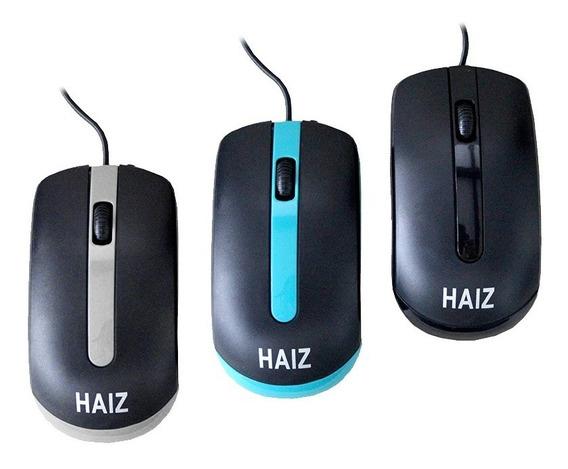 Mouse Óptico Com Fio Usb 2.0 Haiz 1000dpi Hz018