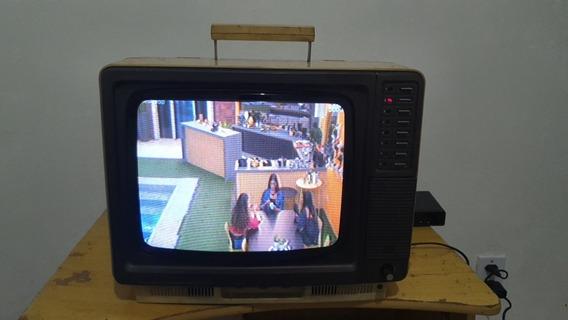 Tv Televisão Antiga Sharp 1980 Funcionando