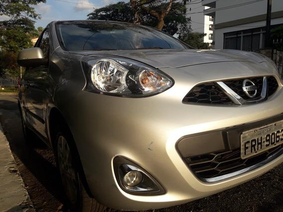 Nissan March 1.0 Sv 2015 Prata
