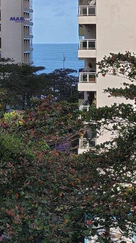 Imagem 1 de 12 de Apartamento À Venda No Guarujá, Na Praia Das Pitangueiras, Sacada, 80 Metros De Área Útil, 02 Vagas De Garagem E Churrasqueira. - Ap11266