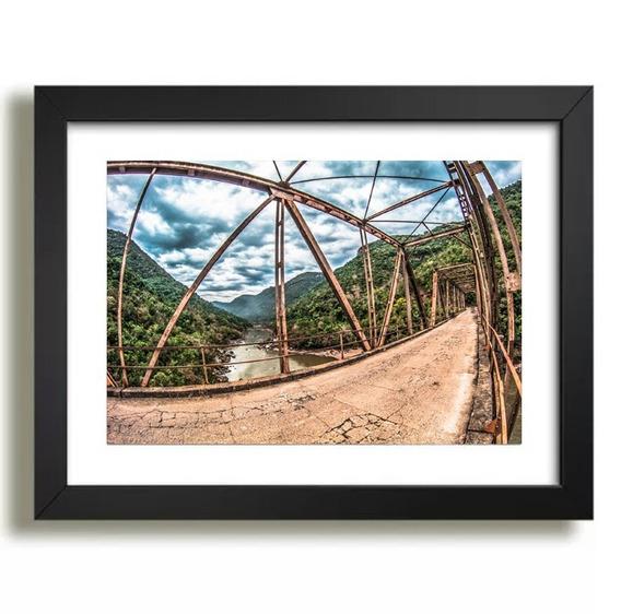 Quadro Ponte Ferro Rio Das Antas Nova Roma Do Sul Decoração