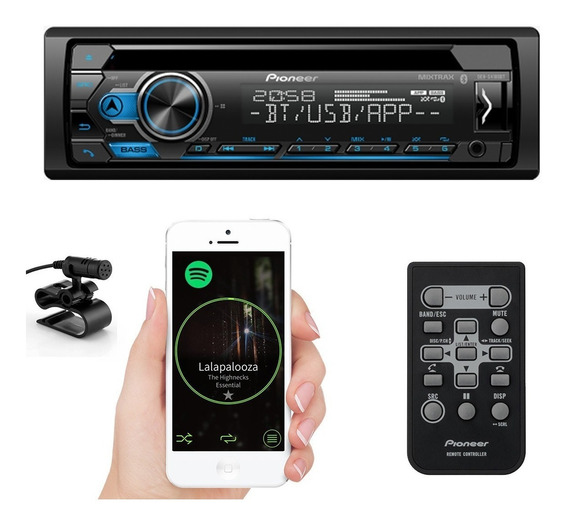 Cd Player Pioneer Deh S4180bt Bluetooth Radio Usb Mp3
